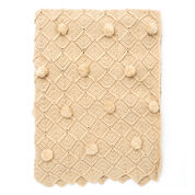 Bernat Lattice Pompom Blanket
