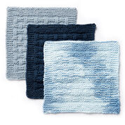 Lily Sugar'n Cream Textured Knit Dishcloth, Indigo