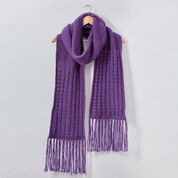 Patons Book Ends Knit Scarf