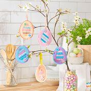 Coats & Clark Easter Egg Ornaments
