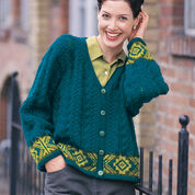 Go to Product: Patons Fair Isle Border Cardigan, M in color
