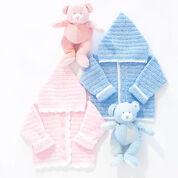 Bernat Sweet Baby Hoodie Crochet Pattern, Boys - 6 mos