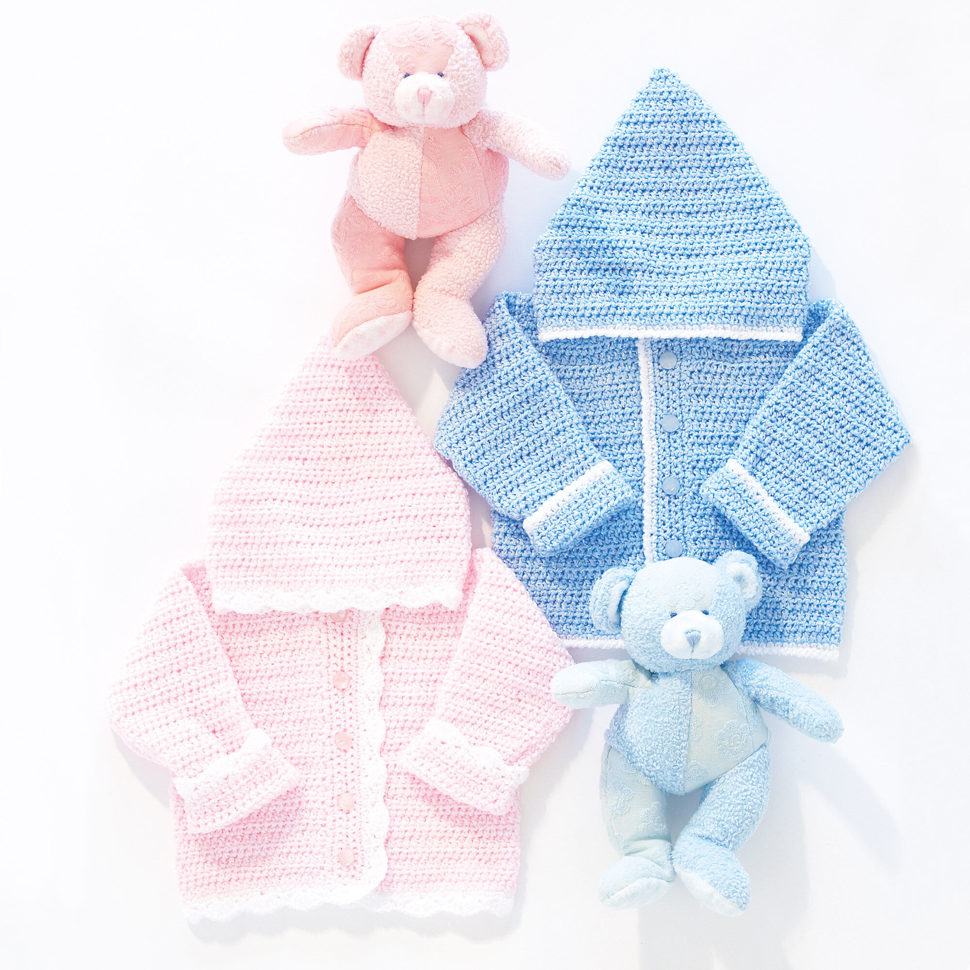 Bernat Sweet Baby Hoodie Crochet Pattern Boys 6 Mos Yarnspirations