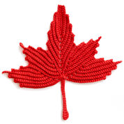 Bernat Maple Leaf Crochet Dishcloth