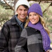 Go to Product: Red Heart Ribbed Hat and Scarf, Man in color