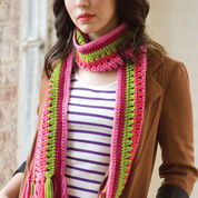 Red Heart Taffy Pull Scarf
