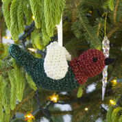 Red Heart Crocheted Chirper Ornament