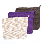 Lily Sugar'n Cream Speedy Texture Dishcloth, Warm Brown