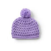 Caron Pebbled Texture Crochet Hat, 2/4 yrs