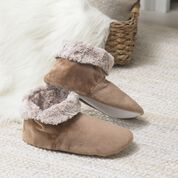 Dual Duty Sew Cozy Boot Slippers using Faux Fur