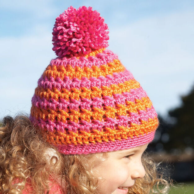 Bernat Textured Toque, 2 yrs in color