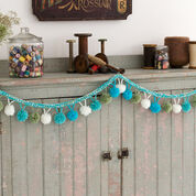 Red Heart Pompom Garland