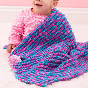 Red Heart One-Row Baby Blanket, Super Saver