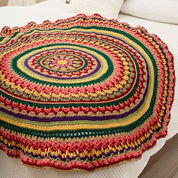 Red Heart Circular Fall Mandala Throw