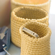 Lily Sugar'n Cream Crochet Nesting Baskets