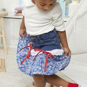 Dual Duty Ruffly Jean Skirt