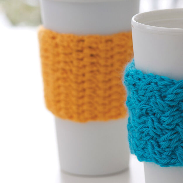 Caron Coffee-on-the-go Crochet Cozy in color
