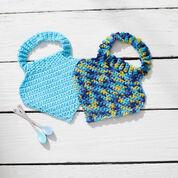 Red Heart Crochet Baby Bibs, Blue