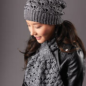 Patons Silver Screen Hat and Scarf Set, Complete Set