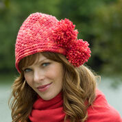 Red Heart Pompom Cloche