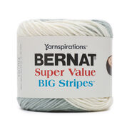 Bernat Super Value Big Stripes Yarn, Stormclouds