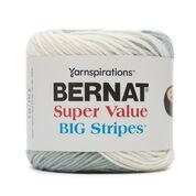 Bernat Super Value Big Stripes Yarn, Stormclouds