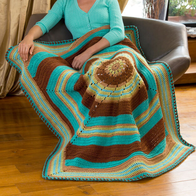 Red Heart Twist & Turn Throw in color