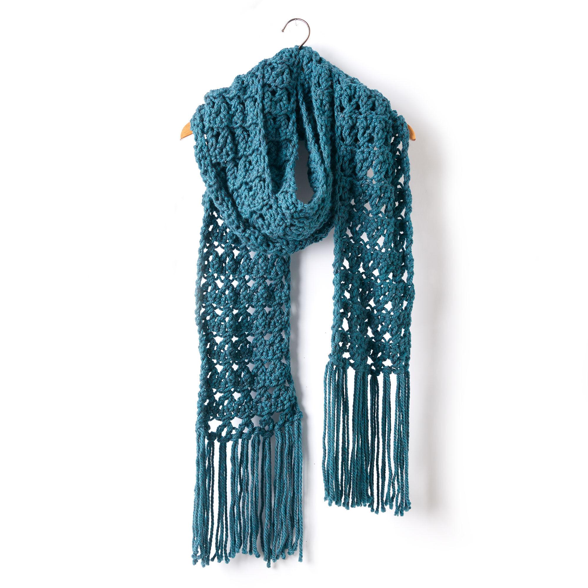 Bernat Crossing Paths Crochet Super Scarf | Yarnspirations