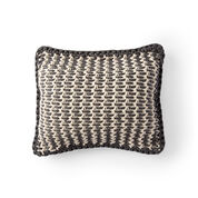 Bernat Woven Look Crochet Pillow