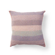 Caron Mosaic Knit Grid Pillow