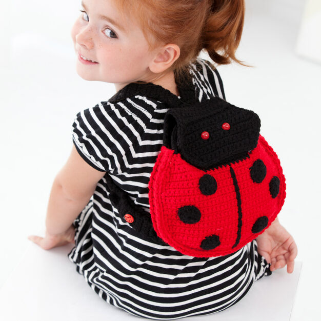 Red Heart Lady Bug Backpack in color