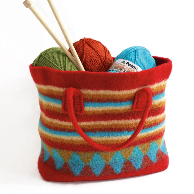 Patons Felted Shopping Bag in color