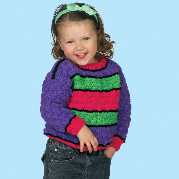 Red Heart Kids Knit Pullover, 2 yrs in color