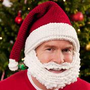 Red Heart Santa Hat and Beard