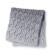 Bernat Knit Lofty Lacy Baby Blanket