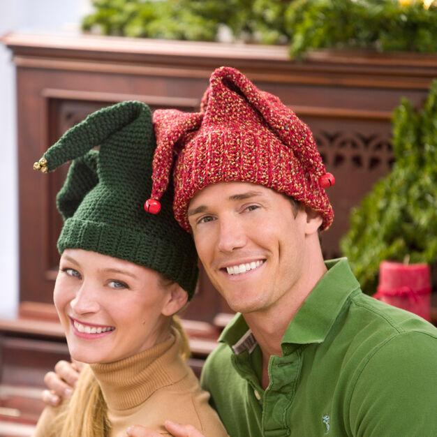 Red Heart Crochet Jingle Bell Hat, S in color