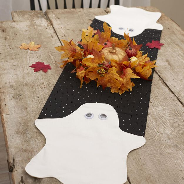 Dual Duty Bust-a-Ghost Table Runner in color