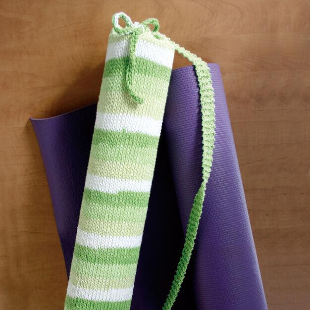 Lily Sugar'n Cream Stripes Yoga Bag in color