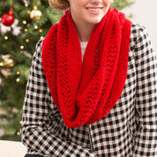 Red Heart Christmas Cowl