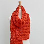 Red Heart Beginner Drop Stitch Scarf