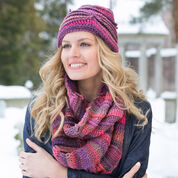 Go to Product: Red Heart Corrugated Hat and Cowl in color