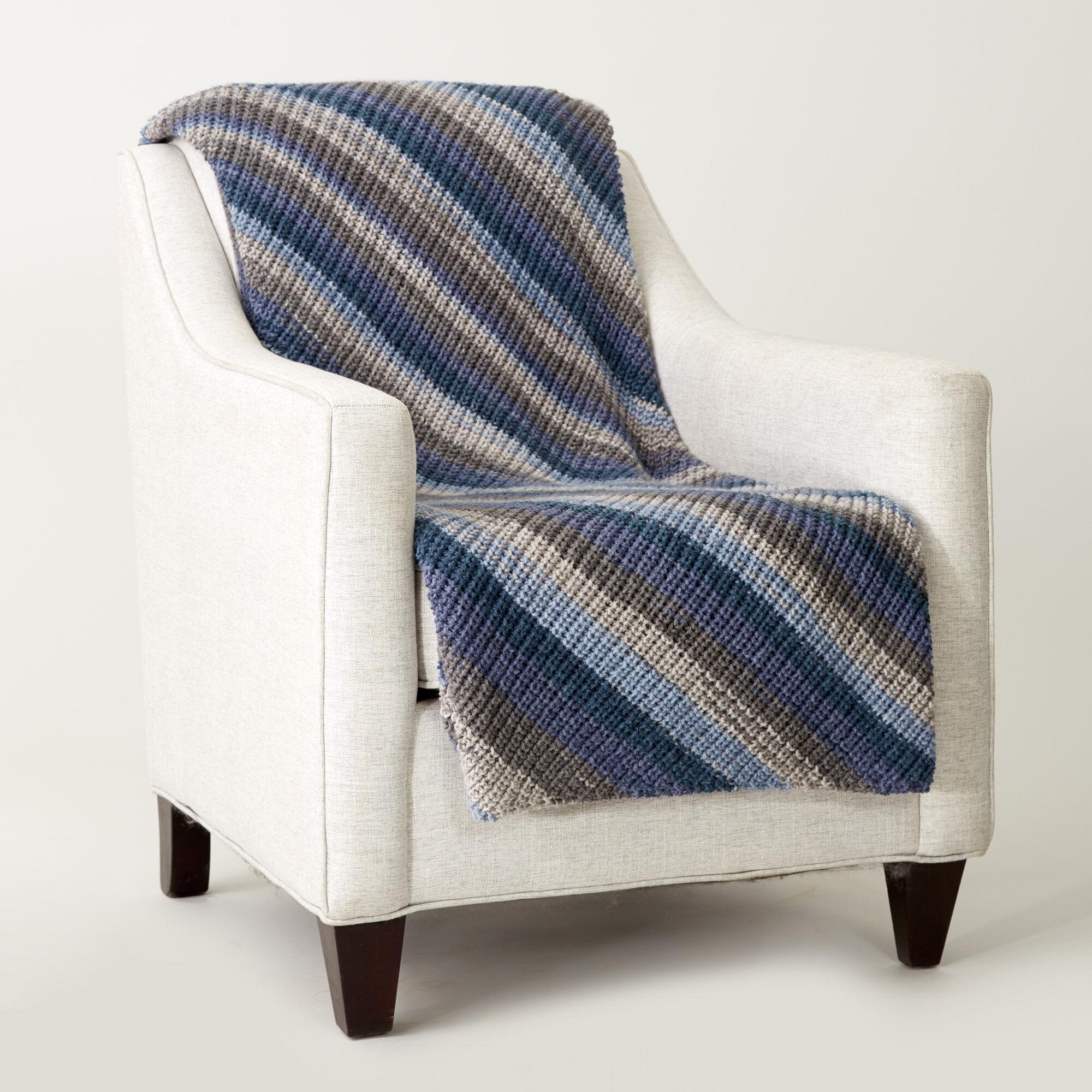 Caron Shake It Up Knit Blanket Pattern Yarnspirations