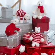 Red Heart Polar Bear Ornaments