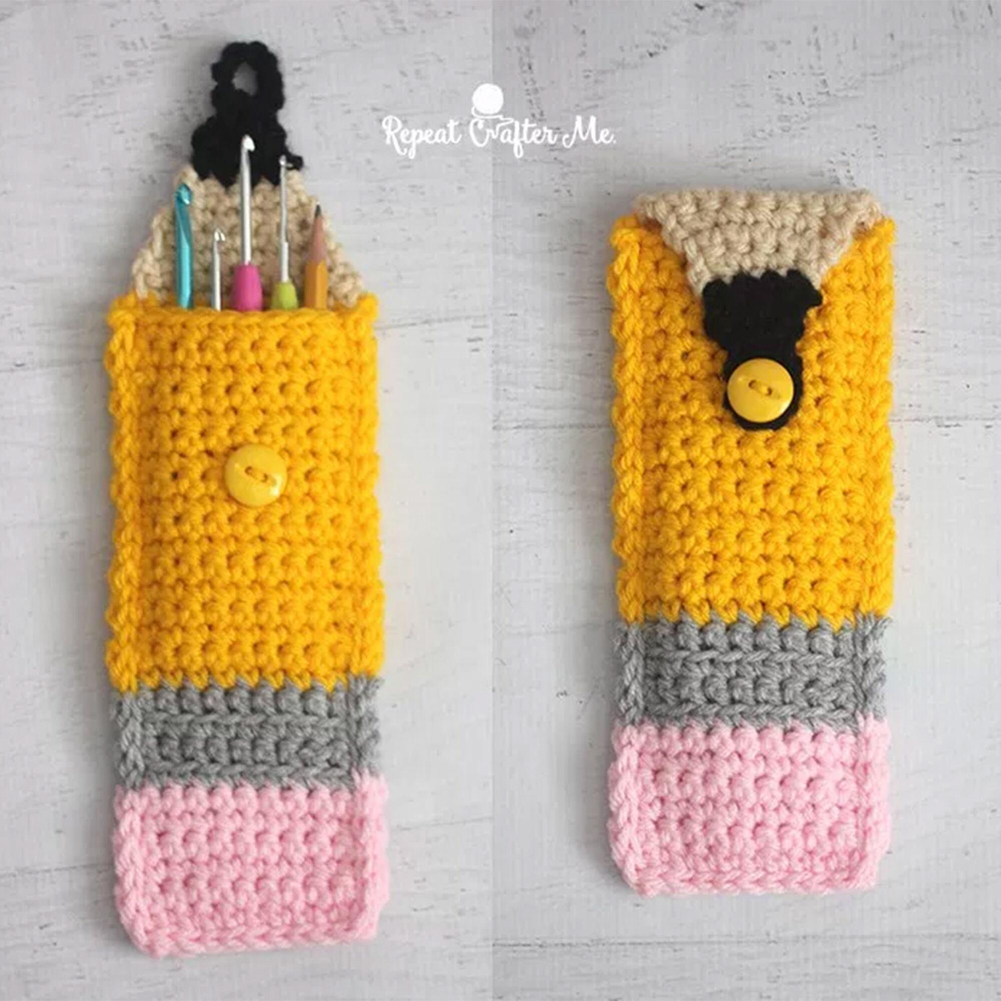 Bernat Crochet Pencil Pouch | Yarnspirations