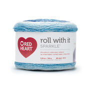 Go to Product: Red Heart Roll With It Sparkle Yarn, Krystal in color Krystal