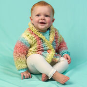Red Heart Cuddle Up Baby Cardi, 6 mos