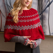 Go to Product: Red Heart Fair Isle Poncho & Arm Warmers, S in color
