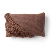 Go to Product: Red Heart Fringed Knit Lumbar Pillow in color