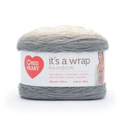 Go to Product: Red Heart It's a Wrap Rainbow Yarn in color Foggy