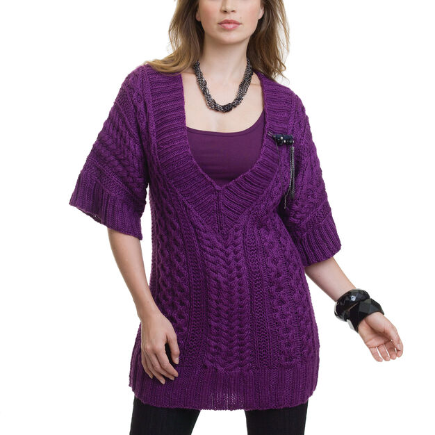 Caron Cabled Tunic, S in color